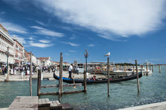 Grand canal and gondolier Stock Images