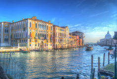 Grand Canal in hdr royalty-vrije stock afbeelding