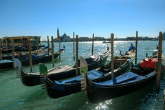 Grand Canal with historic buildings in Venice - Italy Royalty Free Stock Images