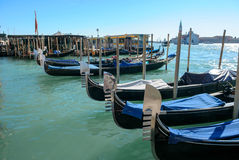 Grand Canal with historic buildings in Venice - Italy Stock Photography