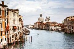 Grand Canal i Venedig, Italien Fotografering för Bildbyråer