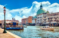 Free Grand Canal In Venice Italy Panoramic View Stock Photos - 110952703