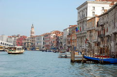 The Grand Canal with its buildings and palaces Royalty Free Stock Images