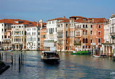 The Grand Canal with its buildings and palaces Royalty Free Stock Photography