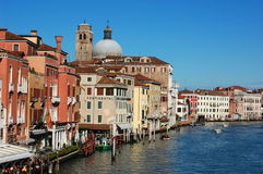 The Grand Canal with its buildings and palaces Royalty Free Stock Photos