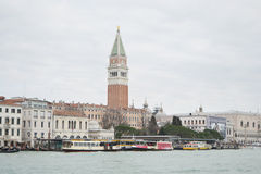 Grand Canal and Marco Square Stock Photography