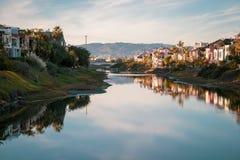 Grand Canal Marina del Ray, Califórnia fotos de stock