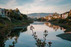 Grand Canal Marina del Ray, Kalifornien stockfotos
