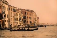 Grand Canal -Mening van Venetië, Italië Stock Foto's