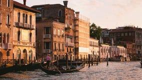 Grand Canal met een Gondel Venetië royalty-vrije stock foto