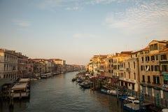 Grand Canal am Morgen, Venedig, Italien stockbild
