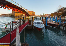 Grand Canal morning view, Venice, Italy. Royalty Free Stock Images