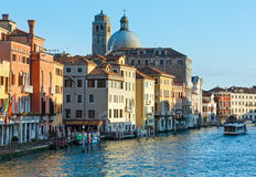 Grand Canal morning view. Venice, Italy. Stock Photography