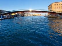 Grand Canal morning view. Venice, Italy. Stock Photos