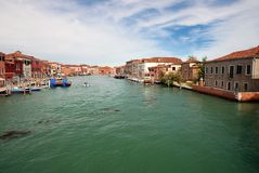 Grand Canal in Murano near Venice, Italy Stock Photos