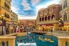 Grand Canal nel casinò veneziano della località di soggiorno di Macao fotografia stock libera da diritti