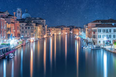 Grand Canal at Night Royalty Free Stock Photo