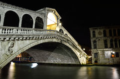 Grand Canal Night Scene, Venice, Italy Royalty Free Stock Image