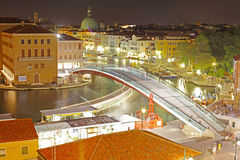 Grand Canal at night taken in Venice Stock Photo