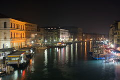Grand Canal by night, Venice Stock Photos