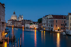 Grand Canal at night, Venice Royalty Free Stock Photo