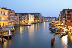 Grand canal at night Stock Photo