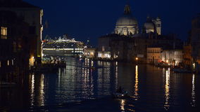 Grand Canal at night stock footage