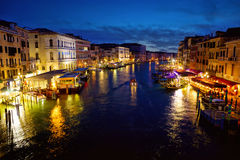 Grand Canal at night stock photography