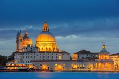 Grand canal at night in Venice, Italy Royalty Free Stock Photo