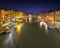 Grand Canal at night, Venice Stock Images