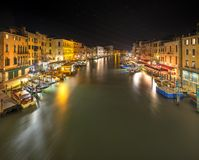 Grand Canal at night, Venice Stock Photos