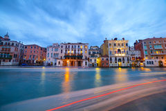 Grand Canal at night, Venice Stock Photo