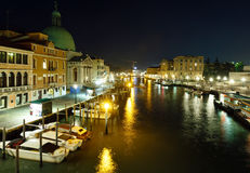 Grand Canal night view. Venice, Italy. Royalty Free Stock Images