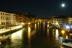 Grand Canal night view. Venice, Italy. Royalty Free Stock Image