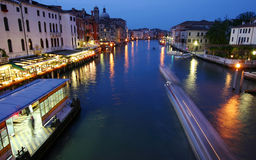 Grand Canal  night view in Venice Stock Image