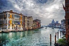 Grand Canal op een bewolkte dag stock afbeelding