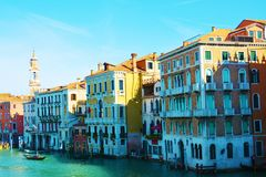 Grand Canal, outdoors, in Venice, Italy, Europe Stock Image
