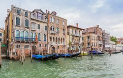 Grand Canal and palaces in Venice, Italy Royalty Free Stock Images