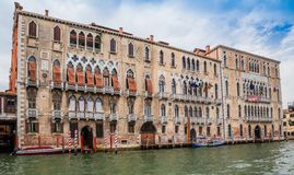 Grand Canal and palaces in Venice, Italy Stock Image