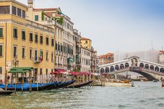 Grand Canal and palaces in Venice, Italy Stock Images