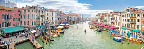 Grand Canal. Panorama. Venice. HDR Royalty Free Stock Images