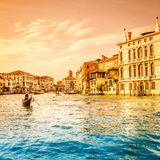 Grand Canal plats, Venedig Royaltyfria Foton