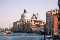 Grand Canal retro, Venice Stock Image