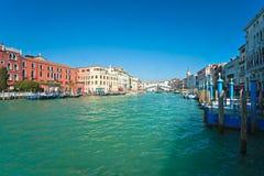 Grand Canal and Rialto bridge, Venice. Royalty Free Stock Photos