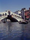 Grand Canal and Rialto Bridge, Venice, Italy. Picture of Grand Canal and Rialto Bridge in Venice Stock Photography