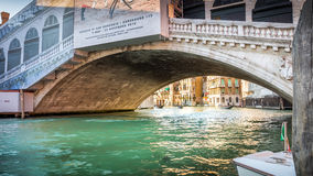 Grand Canal and Rialto bridge, Venice Stock Photography