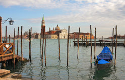 Grand Canal and San Giorgio Maggiore church. Stock Image