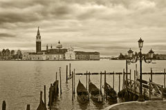 Grand canal and San Giorgio Maggiore church. Royalty Free Stock Photography