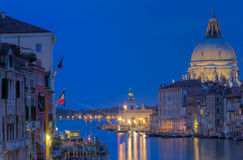 The Grand Canal and Santa Maria della Salute Royalty Free Stock Photos