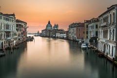 Grand Canal and Santa Maria della Salute Church Royalty Free Stock Photography